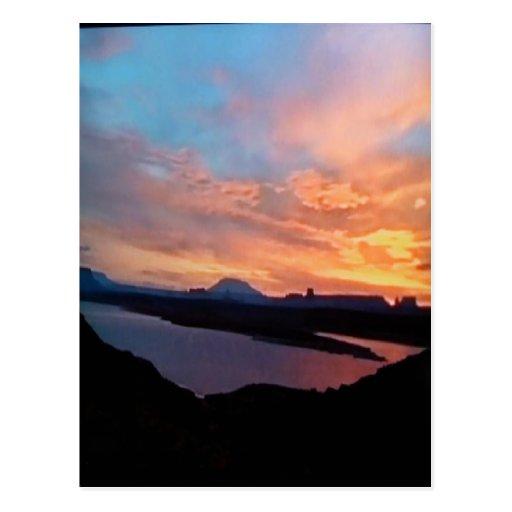 Magnífico-Barranco-puesta del sol Postal