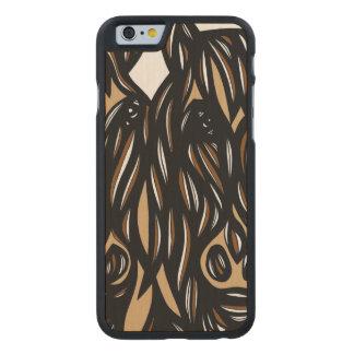 Magnífico fresco grandioso impresionante funda de iPhone 6 carved® de arce