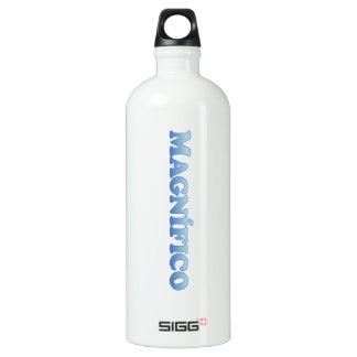 Magnifico (magnificient in Spanish) - Mult-Product Aluminum Water Bottle