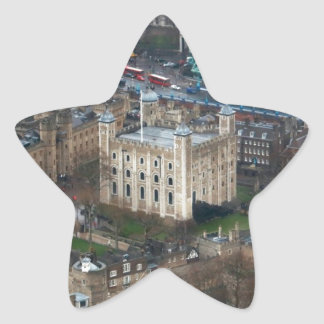 ¡Magnífico! Torre de Londres Reino Unido Pegatinas Forma De Estrellaes Personalizadas