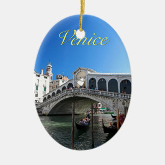 ¡Magnífico! Última Venecia, Rialto, Gran Canal Ornaments Para Arbol De Navidad