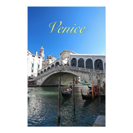 ¡Magnífico! Última Venecia, Rialto, Gran Canal Papeleria De Diseño