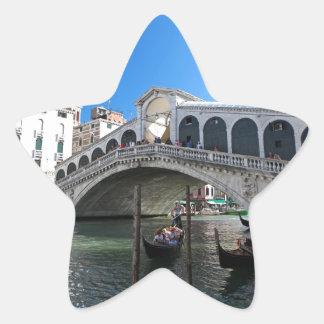 ¡Magnífico! Última Venecia, Rialto, Gran Canal Calcomanías Forma De Estrellas Personalizadas