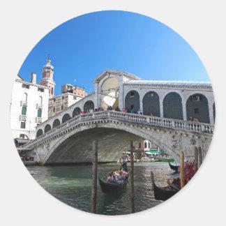 ¡Magnífico! Última Venecia, Rialto, Gran Canal Pegatina Redonda