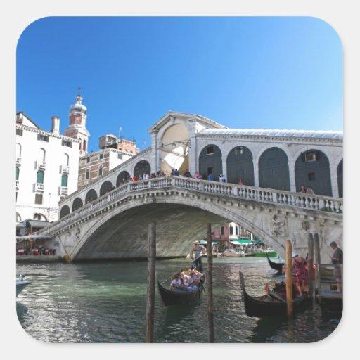 ¡Magnífico! Última Venecia, Rialto, Gran Canal Pegatina Cuadrada
