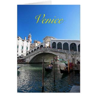 ¡Magnífico! Última Venecia, Rialto, Gran Canal Tarjeta De Felicitación