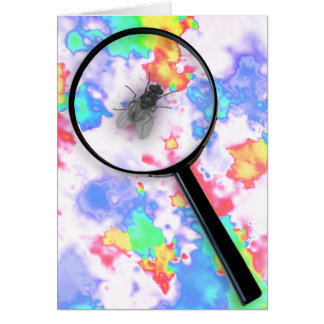 Magnified Fluro Fly Greeting Card