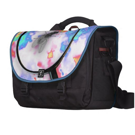 Magnified Fluro Fly Laptop Bags