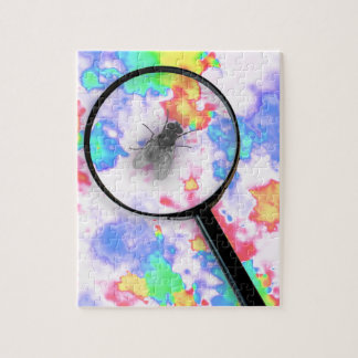 Magnified Fluro Fly Jigsaw Puzzle