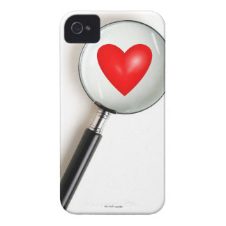 Magnified Heart Funny iPhone 4 Case