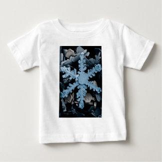 Magnified Hexagonal Dendrite Snowflake Baby T-Shirt