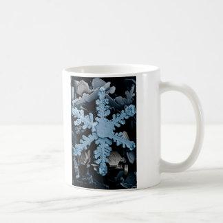 Magnified Hexagonal Dendrite Snowflake Classic White Coffee Mug