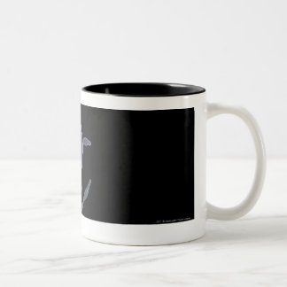 Magnified look of a lymph node Two-Tone coffee mug