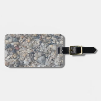magnified sand luggage tag
