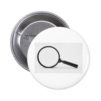 magnifying glass 2 inch round button