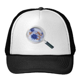 Magnifying Glass Bacteria Virus Concept Trucker Hat