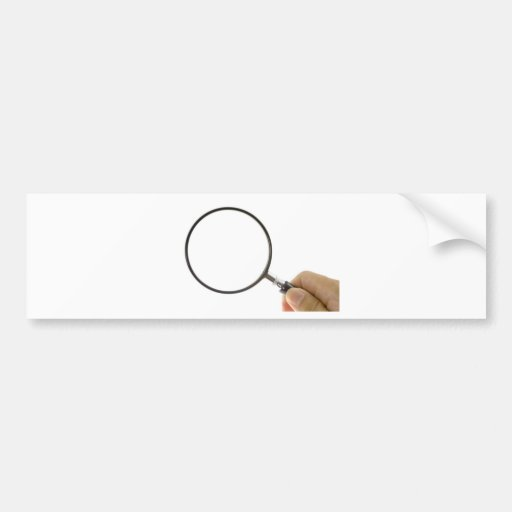 Magnifying glass bumper sticker