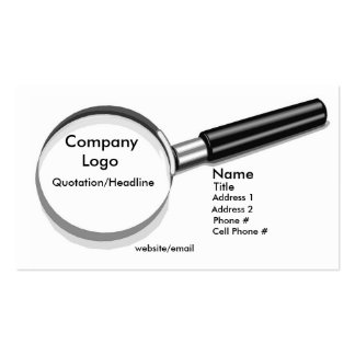 Magnifying Glass Business Card Template