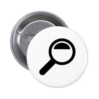 Magnifying glass pinback button