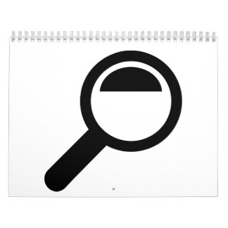 Magnifying glass calendar