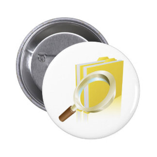 Magnifying glass data file folder search concept button