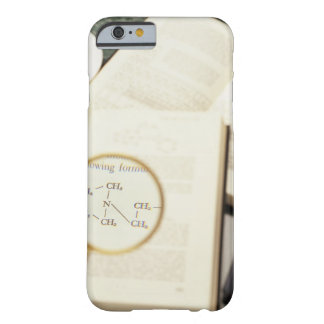 Magnifying glass enlarging molecular diagram barely there iPhone 6 case