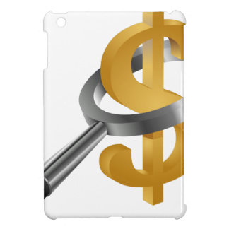 Magnifying Glass Gold Dollar Sign iPad Mini Cover