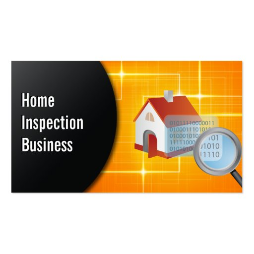 Magnifying glass home inspection business card zazzle for Home inspection business cards