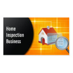 Magnifying Glass Home Inspection Business Card