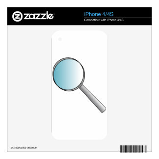 Magnifying Glass iPhone 4 Decals