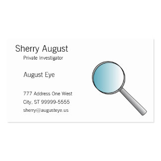 Magnifying Glass Private Investigations Business Card Template