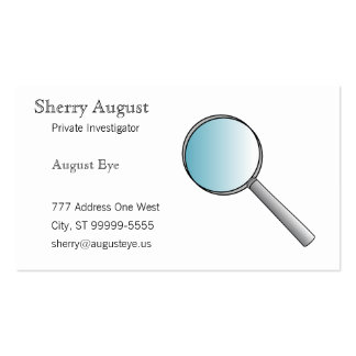 Magnifying Glass Private Investigations Business Card Templates