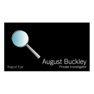 Magnifying Glass Private Investigations Business Card