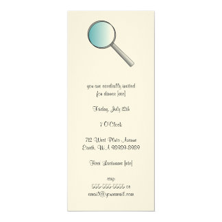 Magnifying Glass Private Investigations 4x9.25 Paper Invitation Card