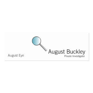 Magnifying Glass Private Investigations Mini Business Card