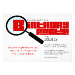Magnifying Glass Red Birthday Party Invitation