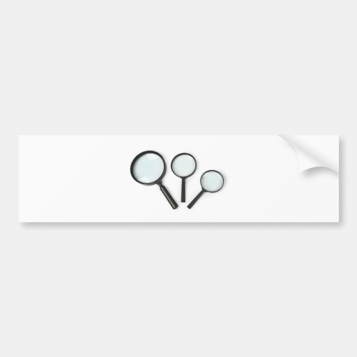 magnifying glass set bumper stickers