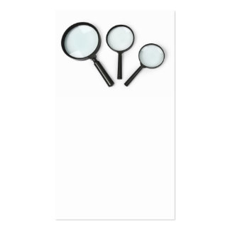 magnifying glass set business card
