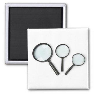 magnifying glass set fridge magnet