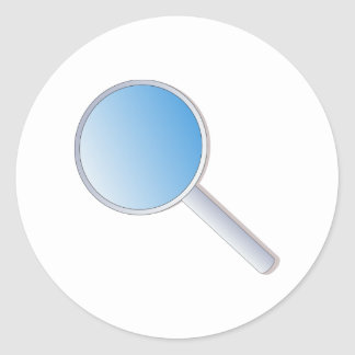 Magnifying Glass Classic Round Sticker