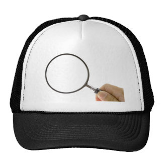 Magnifying glass trucker hat