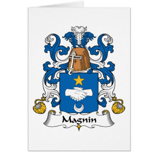 Magnin Family Crest Greeting Card