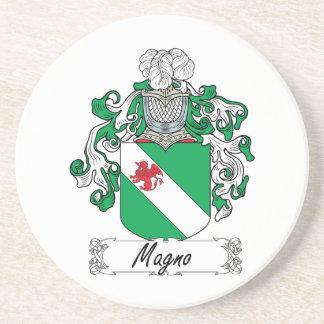 Magno Family Crest Beverage Coasters