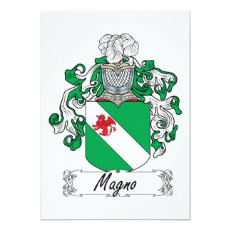 Magno Family Crest Card