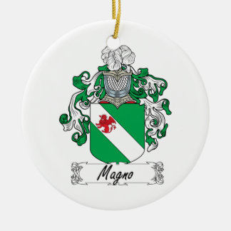 Magno Family Crest Christmas Ornaments