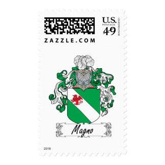 Magno Family Crest Postage Stamp