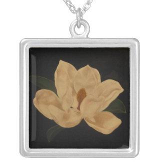 Magnolia 2 square pendant necklace