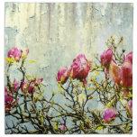 Magnolia aherrumbrada servilleta imprimida