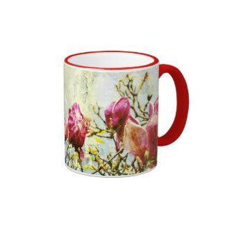 Magnolia aherrumbrada tazas de café