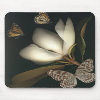 magnolia and butterflies mousepad 1